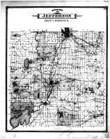 Jefferson County Outline Map, Jefferson County 1887
